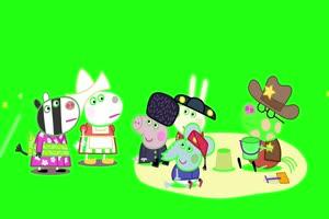 小猪佩奇 玩沙子 绿屏抠像 巧影AE素材 特效牛