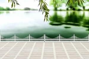 广场舞 背景 湖水岸边