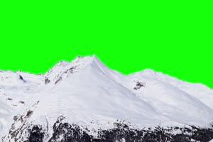 雪山 自然绿屏抠像素材