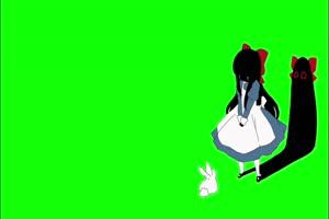 美女 幽灵 鬼魂 绿屏抠像素材