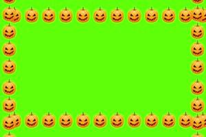 万圣节南瓜框 万圣节 恐怖 鬼魂 绿屏素材特效牛