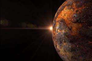 荒废星球2 旋转 绿屏抠像 特效素材