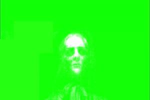 恐怖 人头面具 绿屏绿幕 抠像素材