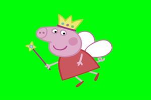 小猪佩奇系列  绿屏抠像素材 公众号特效牛免费