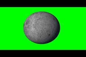 月球 月亮 旋转 绿屏抠像 特效素材