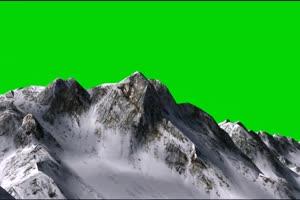 飞跃高山 航拍 飞机飞过高山