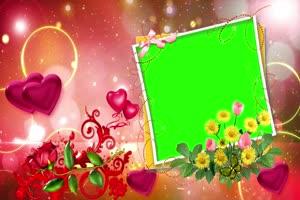 爱心 相框 绿屏抠像 巧影AE 特效素材 5