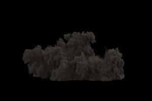 爆炸 烟雾 烟尘 炸裂 免抠像 特效素材 3