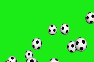 天降足球  体育 绿屏抠像素材