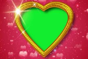 爱心 相框 绿屏抠像 巧影AE 特效素材 2