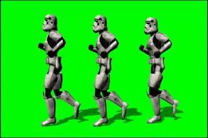 星球大战 帝国冲锋队 战士 4 绿屏绿幕特效抠像素
