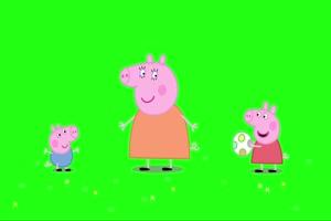 小猪佩奇 踢足球2 绿屏抠像 巧影AE素材 特效牛