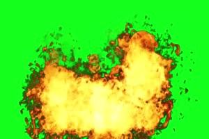 不断的爆炸 火焰 绿屏抠像蓝幕特效素材