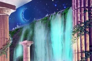 山水 瀑布  巧影AE 背景视频素材