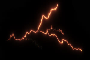 闪电 电光 透明通道 专业抠像 特效素材PR AE 09